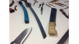Knives taken off the streets after a police knife amnesty