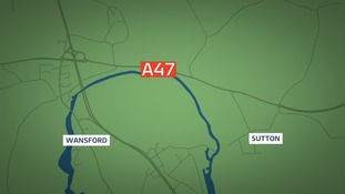 Fatal three-car crash on the A47