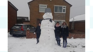 A giant snowman in Lowestoft