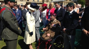 Ben meeting the Princess Royal in 2015