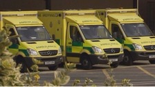 Ambulances waiting