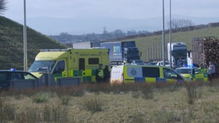 Emergency services at the Rockcliffe roundabout
