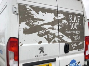 One of two RAF 100 celebration pieces by Ruddy Muddy