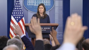 Sarah Huckabee Sanders made a furious statement to press earlier today.