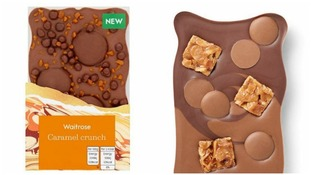 Too close for comfort? One of the Waitrose bars and the similar Hotel Chocolat confection.