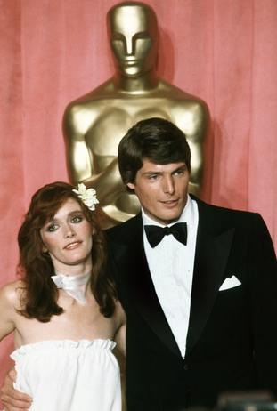 Margot Kidder and Christopher Reeve at the 51st Academy Awards in 1979.