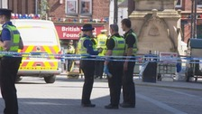Officers at the scene of the crash in Penrith