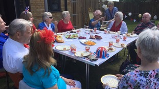 Residents celebrate at Enoch House in Colchester