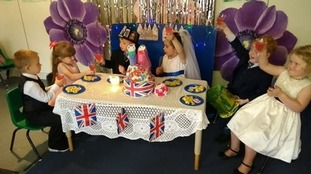 Kittens Preschool in Darwen hosted their very own royal celebration