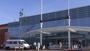 The entrance to Worcestershire Royal Hospital