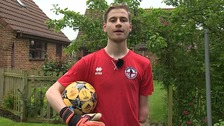 Kieran Lambourne (18) from Norfolk is playing for England at the Amputee World Cup.
