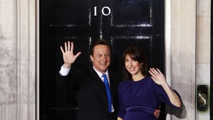 "Samantha Cameron has said she was ""terrible"" at waving to the public."