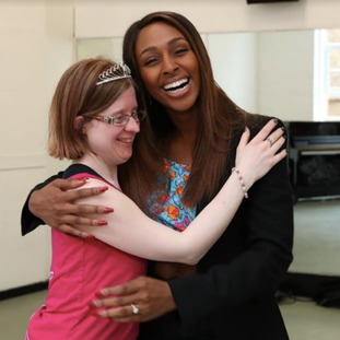 The National Lottery's 'Big Surprise' arranged for Jen to meet Alexandra Burke at Pineapple Dance Studios