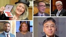 Mary Beard, Bernard Jenkin, Ken Fottlett, Jermain Defoe, Lisa Duffy and Zazuo Ishiguro have been honoured by the Queen.