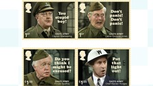 Some of the new Dad's Army stamps.