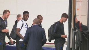 England team leave St. George's Park for the World Cup in Russia