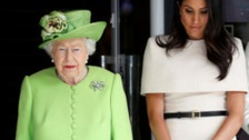 The Queen and Duchess of Sussex observe a minute's silence on the anniversary of the Grenfell tragedyThe Queen and Duchess of Sussex observe