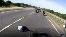 A screenshot from a motorbike video released by Norfolk Police after the initial court case.