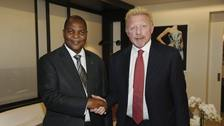 Boris Becker with President Faustin Archange Touadera