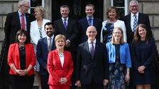 First Minister Nicola Sturgeon and her new cabinet after Tuesday's reshuffle