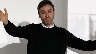 Raf Simons at the Jil Sander 2012 Autumn/Winter collection show during Milan Fashion Week