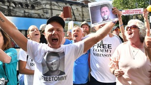 Laws on contempt of court under spotlight as Tommy Robinson freed following appeal