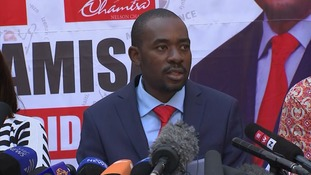Zimbabwe opposition leader Nelson Chamisa says democracy has died in the country