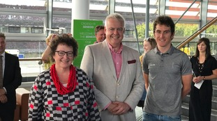 Geraint Thomas, Elin Jones and Carwyn Jones