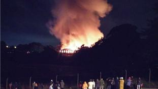 Dozens of firefighters tackle huge mill blaze in Rochdale