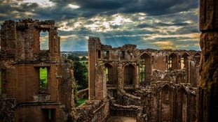 Kenilworth Castle was partly destroyed in a deliberate act of sabotage during the Civil War in 1642.