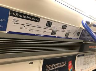 The path from being kicked out of school to prison on a satirical tube map