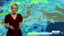 Helen Plint has today's weather