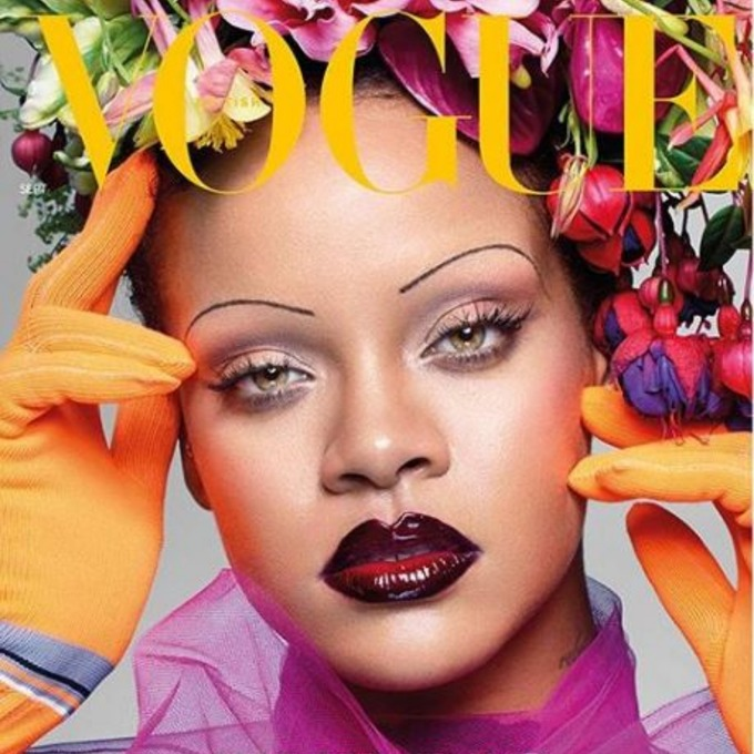 Rihanna graces the cover of British Vogue's September issue.