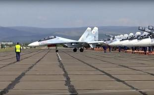 Russian planes prepare to take off