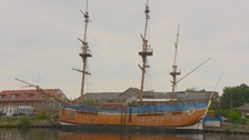 Full scale HMS Endeavour replica based in Whitby