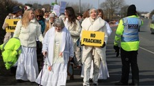 Emma Thompson joined anti fracking protest in Lancashire last moth