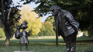 Matilda takes on Donald Trump as Roald Dahl book celebrated with statues