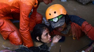 'Hundreds of victims buried in mud' following Indonesia's deadly earthquake and tsunami