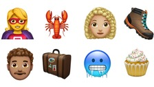 From curly haired characters to cupcakes, Apple has added more than 70 emoji.