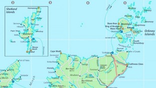 In the past, Shetland often appeared in a separate box on maps.