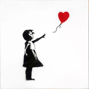 Girl with Balloon is among Banky's most enduring images (Sotheby's/PA)