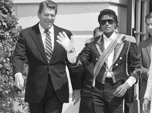 Michael Jackson and Ronald Reagan