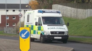 The ambulance in use in East Kilbride prior to being decommissioned and auctioned.