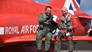 Longest serving Red Arrows pilot takes to the skies for final time