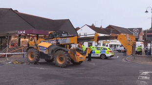 Thieves use JCB to raid supermarket cash machine in Billingshurst