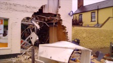 Suffolk village shop destroyed after ram raid