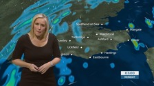 Sunday night's weather forecast for the south east