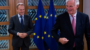 European Council president Donald Tusk and EU chief negotiator Michel Barnier.
