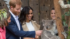 Koalas and baby gifts as Harry and Meghan begin Australia tour