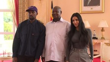 Kanye talks trainers and Jurassic Park with Ugandan president